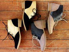 color blocked shoes DIY