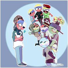 Cute N Country, Country Art, Arte Do Kawaii, Kawaii Anime, Mundo Comic, Human Art, Cool Countries, Hetalia, Drawing S