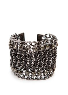 MANGO - TOUCH - Chain cuff with crystals
