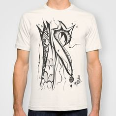 Abstract Squiggle  T-shirt by Josée Lennon  - $22.00