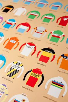 100 Jerseys  Tour de France Poster by Beachomatic on Etsy, £16.00