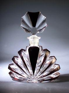 fantasy perfume bottles | Czechoslovakian perfume bottle ~ 1930's | Fantasy Perimeter