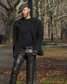 """Derek Bishop Music - The official site for Derek Bishop and """"Bicycling in Quicksand"""" Skinny Leather Pants, Men's Leather Jacket, Leather Trousers, Leather Fashion, Mens Fashion, Hommes Sexy, Mens Clothing Styles, Gorgeous Men, Black Men"""