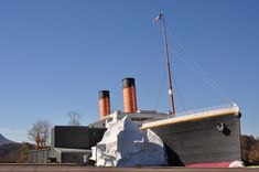 Photo of the outside of the Titanic Museum in Pigeon Forge.