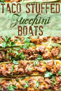This taco-flavored recipe is sure to float your boat! Not only is it DELICIOUS, but it can be made ahead of time and reheated when convenient. Taco Stuffed Zucchini Boats | Club 31 Women | club31women.com #zucchini