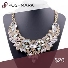 Fashion Necklace Women's fashion rhinestone statement bib necklace alloy Jewelry Necklaces