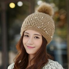 Fashion Sequin beanie hat for women cheap fleece winter knit hats ... 9532e1ad21f