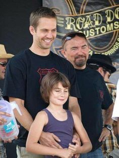 Paul Walker with his daughter and dad