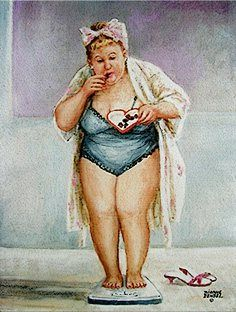 weighing so much more fun! art by diane dengel - Bing Images Old Lady Humor, Orca Tattoo, Plus Size Art, Fat Art, Norman Rockwell, Funny Art, Big And Beautiful, Belle Photo, Art For Sale