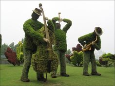 A jam session made by topiary art