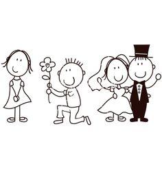 Wedding cartoon vector 577164 - by hayaship on VectorStock�