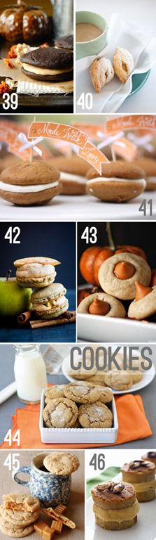 pumpkin and apple cookie and pastry recipes from http://whipperberry.com