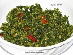 Cheera (spinach) thoran, a delicious South Indian dry curry w coconut. Email me for the recipe.