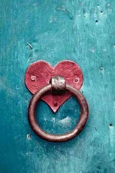 Red Heart Door Knocker by jacklyn | Art | Pinterest | Doors, Knock ...