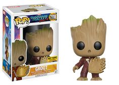 Guardians of the Galaxy Vol. 2: Groot in jumpsuit with patch Pop figure by Funko, Hot Topic exclusive