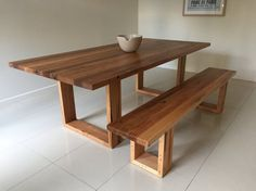 Melbourne recycled timber table with modern by RetrogradeMelbourne Diy Furniture Projects, Woodworking Furniture, Upcycled Furniture, Rustic Furniture, Furniture Stores, Furniture Outlet, Fine Furniture, Wooden Dining Tables, Dining Table Design