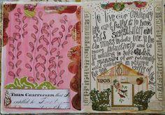 journal spreads by pam garrison, via Flickr