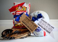 Baseball & Volleyball Tags for a Coach's gift - free printable from eighteen25