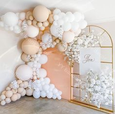 Deco Baby Shower, Baby Shower Balloons, Shower Party, Baby Shower Parties, Bridal Shower, Balloon Backdrop, Balloon Wall, Balloon Garland, Diy Party Backdrop