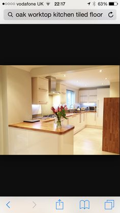 New Kitchen Style. Cream & Oak