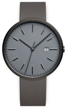 M40 Men's date watch in PVD grey with dark grey nitrile rubber strap