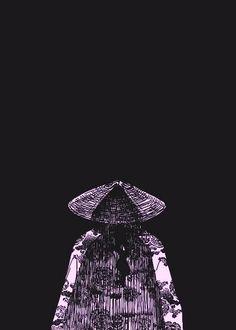 Japanese Wallpaper Iphone, Emo Wallpaper, Cool Anime Wallpapers, Live Wallpaper Iphone, Samurai Concept, Black And White Wallpaper, Movie Prints, Samurai Art, Arte Horror