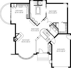 European Victorian House Plan 65084 Level One