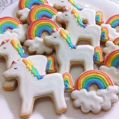Unicórnios cookies By Vanilla Art Cookies