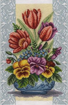 Cross Stitch Bird, Counted Cross Stitch Kits, Cross Stitch Flowers, Cross Stitch Designs, Cross Stitch Embroidery, Hand Embroidery, Alpha Patterns, Stitch 2, Amazing Flowers