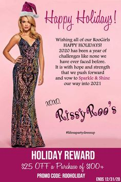 Wishing all of our RooGirls HAPPY HOLIDAYS! 2020 has been a year of challenges like none we have ever faced before. It is with hope and strength that we push forward and vow to Sparkle & Shine our way into 2021 #lifesapartydressup #happyholidays