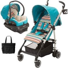 Maxi-Cosi - Kaia Travel System With Diaper Bag - Bohemian Blue