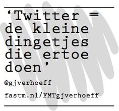 Twitter volgens @gjverhoeff