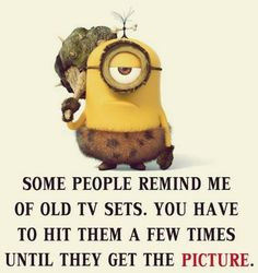 Funny Minion humor- Despicable me minions Minion Jokes, Minions Quotes, Funny Minion, Minion Sayings, Minion Pictures, Funny Pictures, Quote Pictures, Minions Love, Minions Friends