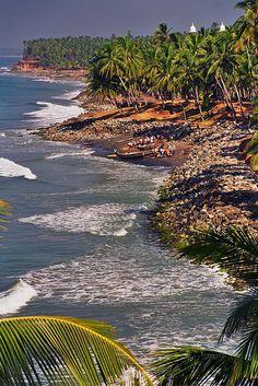 Varkala, Backwaters, Kerala. INDIA. (by fredcan, via Flickr)