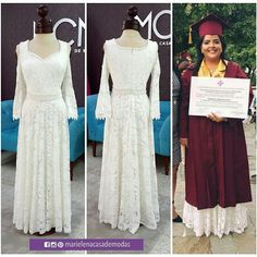 Vestido de graduacion. Marielena Añazco