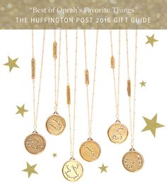 Our Constellation Star Maps Necklaces - featured in all-time top picks from Oprah's Favorite Things by The Huffington Post, Holiday 2016!