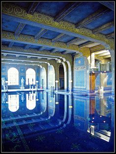 Indoor pool at Hearst Castle. I have been there. It is way more awesome in real life.