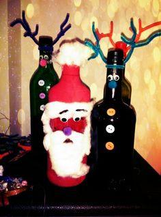 #Xmas #Christmastree #handmade #branches #bottle #reindeer #santa #decoration # ornament #smiles #happy #love #joy  #holidays #criative #sophie_lamidi
