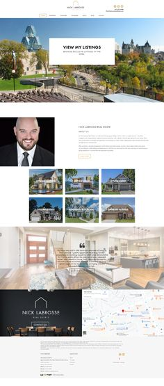 Custom web design for Ottawa Realtor Nick Labrosse. Uses Ubertor CMS. It is mobile-ready and Responsive. Custom Web Design, Website Designs, Ottawa, Search Engine, This Is Us, Real Estate, Real Estates, Site Design, Website Layout