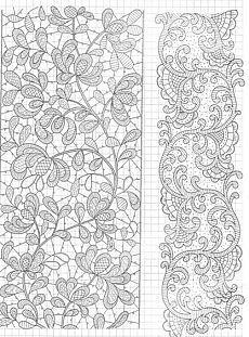 needle lace designs | lace