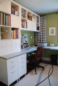 50 Cheap IKEA Home Office Furniture with Design and Decorating Ideas 32 Home Design Decor, Design Your Home, Home Office Design, Home Office Decor, House Design, Interior Design, Office Designs, Ikea Office, Home Office Space