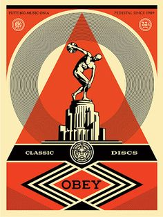 New Shepard Fairey print 'Pedestal' - New Art Editions Shepard Fairy, Art Obey, Obey Artist, Illustrations, Illustration Art, Shepard Fairey Art, Propaganda Art, Communist Propaganda, Festival Posters