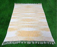 Cotton Handloom throw,Area throw,Hand block print cotton Handloom throw,bohemian rug,Beautiful carpet,Home furnishing Bedroom throw