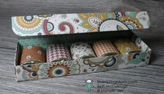 Stampin Up 5 Nugget Box Directions designed by demo Beth McCullough. Please see more card and gift ideas at www.StampingMom #StampingMom