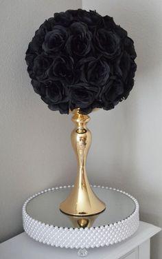 Negro bola de besos. Centro de mesa de boda boda por KimeeKouture