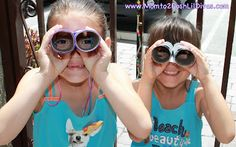Looking for an easy summer activity? Make these super easy TP Roll Binoculars and get outside for a nature walk/exploration! #SummerFun #kidscrafts #outdoorplay #play #Momto2PoshLilDivas