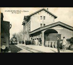 La estación de Caldes de Malavella a finales del siglo XIX y a principios del siglo XX. Y se encuentra en el municipio de Caldes de Malavella, en la comarma de la Selva de la provincia de Girona, en Catalunya.