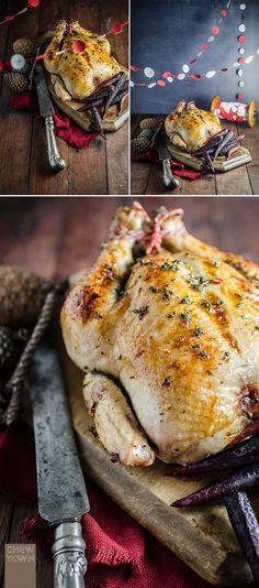 Vanilla and Maple Glazed Roast Chicken | Chew Town Food Blog