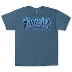 Thrasher Magazine Shop - Dark Heather Flame Logo T-Shirt