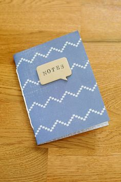 """DIY NOTEPAD JOURNALS According to abeautifulmess, here is your supply list: -regular 8.5 """"x 11"""" printer paper (you need about 7 sheets per journal) -Crop-A-Dile punch tool -string or twine -paper trimmer -embellishments for the cover (I used letter stamps and StazOn ink) -paper, leather, faux leather, or oil cloth for your cover material Directions: …"""